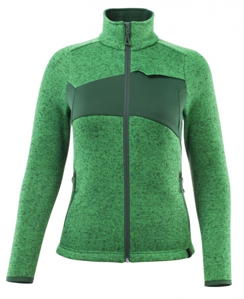 MASCOT-Damen Strickpullover mit Reißverschluss, 300 g/m², grasgrün/grün