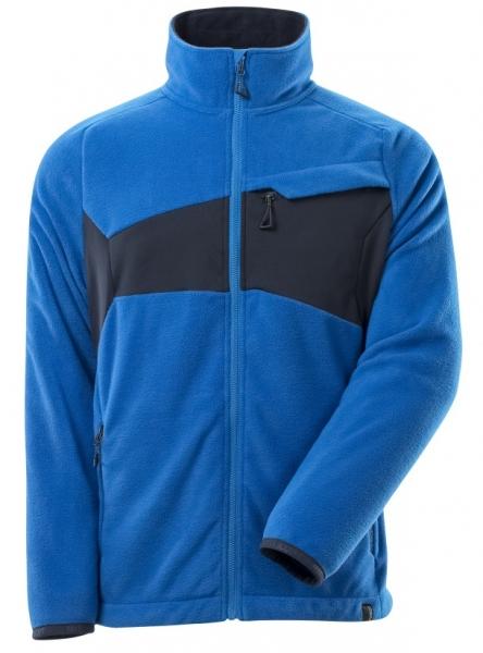 MASCOT-Fleecepullover mit Reißverschluss, ACCELERATE, 270 g/m², azurblau/schwarzblau