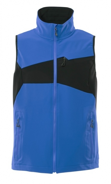 MASCOT-Arbeitsweste, 260 g/m², azurblau/schwarzblau