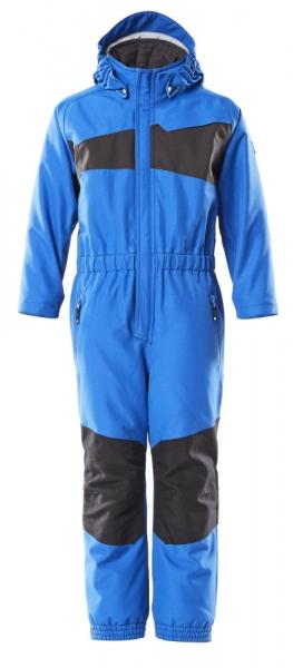 MASCOT-Kinder Schneeanzug, 210 g/m², azurblau/schwarzblau
