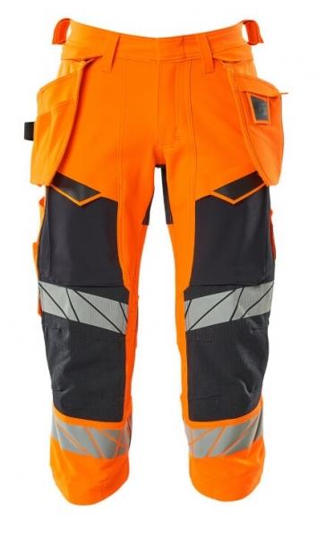 MASCOT-Warnschutz-Dreiviertel Hose, ACCELERATE SAFE, warnorange/schwarzblau
