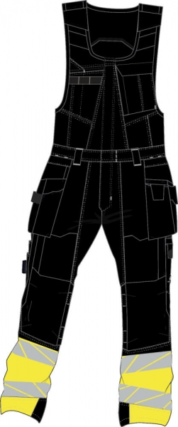 MASCOT-Warnschutz-Kombihose, ACCELERATE SAFE, 76 cm, schwarz/warngelb
