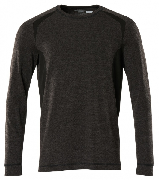 MASCOT-Funktionsunterhemd, langarm, dunkelanthrazit/schwarz