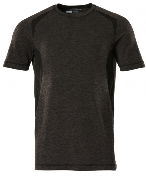 MASCOT-Funktionsunterhemd, kurzarm, dunkelanthrazit/schwarz