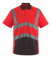 MASCOT-Workwear-Warn-Schutz-Polo-Shirt  ANADIA, rot/anthrazit