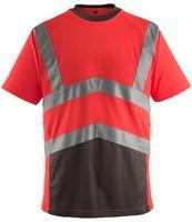 MASCOT-Workwear-Warn-Schutz-T-Shirt  GANDRA, rot/anthrazit