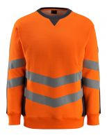 MASCOT-Workwear-Warn-Schutz-Sweatshirt, Wigton, SAFE SUPREME, 310 g/m², orange/schwarzblau