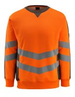 MASCOT-Workwear-Warn-Schutz-Sweatshirt, Wigton, SAFE SUPREME, 310 g/m², orange/dunkelanthrazit