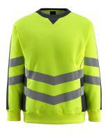 MASCOT-Warnschutz-Sweatshirt, Wigton,  310 g/m², gelb/schwarzblau
