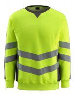 MASCOT-Workwear-Warn-Schutz-Sweatshirt, Wigton, SAFE SUPREME, 310 g/m², gelb/dunkelanthrazit