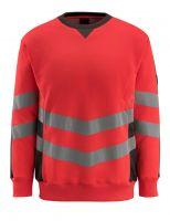MASCOT-Warnschutz-Sweatshirt, Wigton,  310 g/m², rot/dunkelanthrazit
