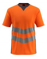MASCOT-Workwear-Warn-Schutz-T-Shirt, Sandwell, SAFE SUPREME, 170 g/m², orange/schwarzblau