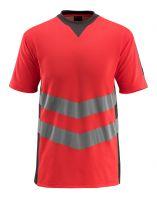 MASCOT-Warnschutz-T-Shirt, Sandwell,  170 g/m², rot/dunkelanthrazit