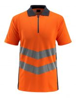 MASCOT-Workwear-Warn-Schutz-Polo-Shirt, Murton, SAFE SUPREME, 170 g/m², orange/schwarzblau