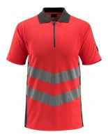 MASCOT-Warnschutz-Polo-Shirt, Murton,  170 g/m², rot/dunkelanthrazit