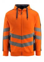 MASCOT-Workwear-Warn-Schutz-Sweatshirt, Corby, SAFE SUPREME, 310 g/m², orange/schwarzblau