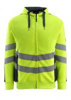 MASCOT-Warnschutz-Sweatshirt, Corby,  310 g/m², gelb/schwarzblau