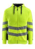 MASCOT-Warnschutz-Sweatshirt, Corby,  310 g/m², gelb/schwarz