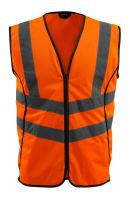 MASCOT-Workwear-Warn-Schutz-Verkehrs-Weste, Wingate, SAFE SUPREME, 120 g/m², orange