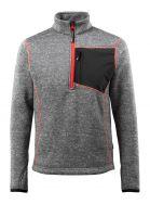 MASCOT-Workwear-Arbeits-Berufs-Strick-Pullover, Reims, HARDWEAR, 300 g/m², grau-meliert