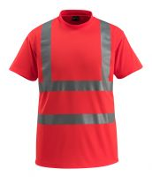 MASCOT-Warnschutz-T-Shirt, Townsville, SAFE LIGHT, 160 g/m², rot