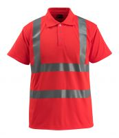 MASCOT-Workwear-Warn-Schutz-Polo-Shirt, Bowen, SAFE LIGHT, 160 g/m², rot