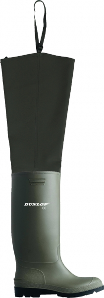 DUNLOP-PVC-Gummi-Stiefel, Watstiefel, (1992), oliv
