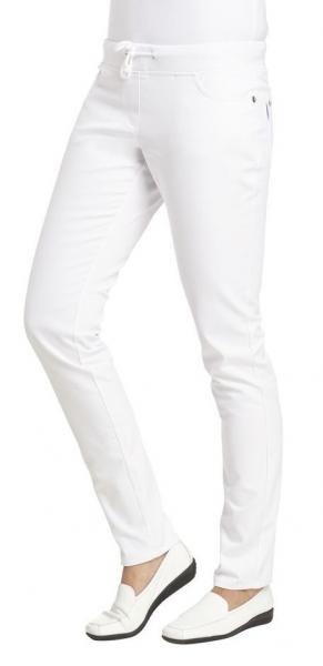 LEIBER-Damen-Arbeits-Berufs-Hose, Slim Style, MG270, weiß