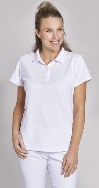 LEIBER-Damen-Poloshirt, weiss