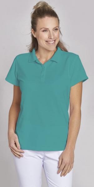LEIBER-Damen-Poloshirt, petrol