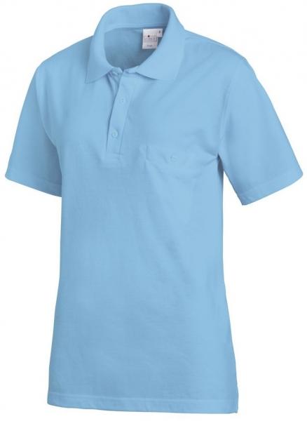 LEIBER-Polo-Shirt, ozeanblau