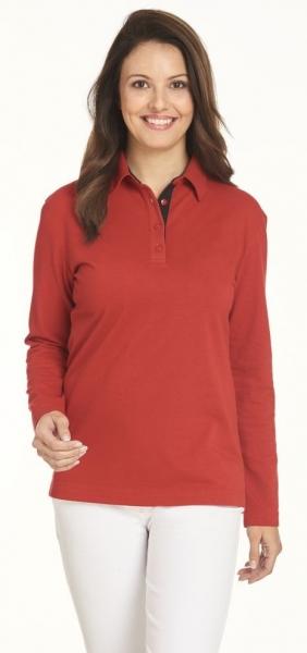 LEIBER-Polo-Shirt für Sie & Ihn, 1/1 Arm, ca. 220g/m², rot/schwarz