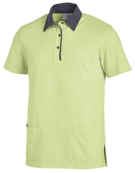 LEIBER-Unisex Polo-Shirt, ca. 220g/m², hellgrün/grau