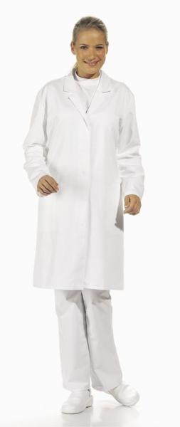 LEIBER Food-Arbeits-Berufs-Damen-Mantel 1/1-Arm, HACCP-Hygiene-Bekleidung, weiß