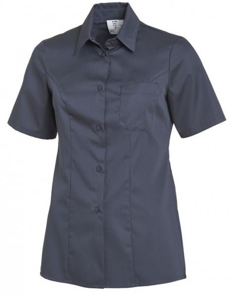 LEIBER-Damen-Bluse, kurzarm, dunkelgrau