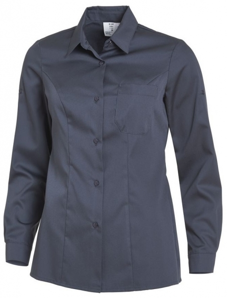 LEIBER-Damen-Bluse, langarm, dunkelgrau