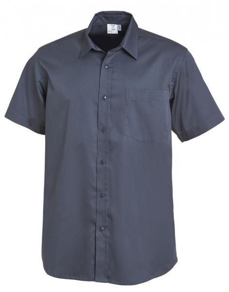 LEIBER-Herren-Hemd, kurzarm, dunkelgrau