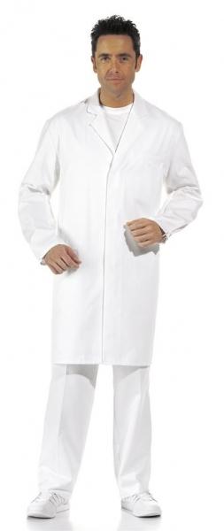 LEIBER Food-Arbeits-Berufs-Herren-Mantel, MG245, HACCP-Hygiene-Bekleidung, weiß