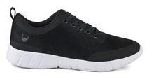 LEIBER-OB-Arbeits-Berufs-Schnürr-Schuhe, Alma, halb, schwarz/weiß