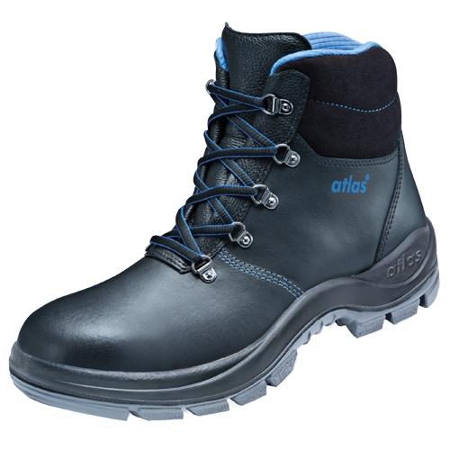 ATLAS-S3-Sicherheits-Arbeits-Berufs-Schuhe, hoch, Duo Soft 725 HI, schwarz