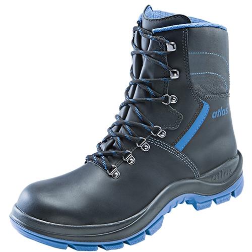 ATLAS-S3-CI-Winter-Sicherheits-Arbeits-Berufs-Schuhe, hoch, Anatomic Bau 840 XP, schwarz