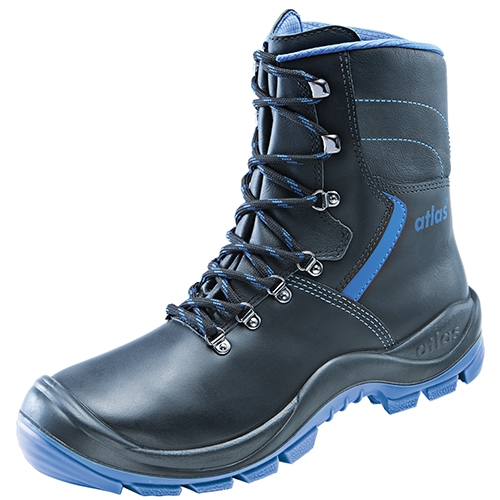 ATLAS S 3-Sicherheits-Berufs-Schuhe, Arbeits-Schnürstiefel, ANATOMIC BAU 845 XP black