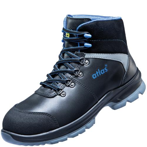 ATLAS-S3-Sicherheits-Arbeits-Berufs-Schuhe, Hochschuhe, Alu-Tec 655 XP-blueline, schwarz/blau