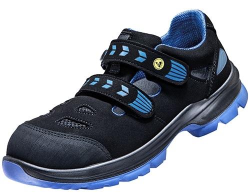 ATLAS-S1P-Sicherheits-Arbeits-Berufs-Sandalen, SL 465 XP blue, Weite 14, schwarz/blau