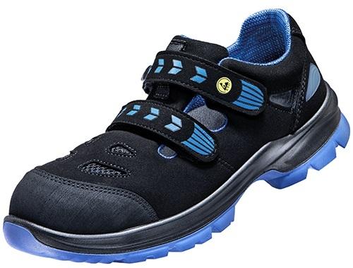 ATLAS-S1-Sicherheits-Arbeits-Berufs-Sandalen, SL 46 blue, Weite 12, schwarz/blau
