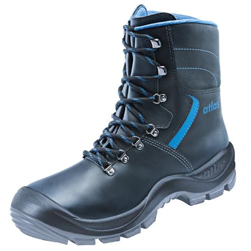 ATLAS-S3-Sicherheits-Arbeits-Berufs-Schuhe, hoch, Duo Soft 905 HI, schwarz