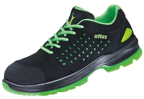 ATLAS-S1-Sicherheits-Arbeits-Berufs-Schuhe, Halbschuhe, SL 20 green, Weite 12, schwarz/grün