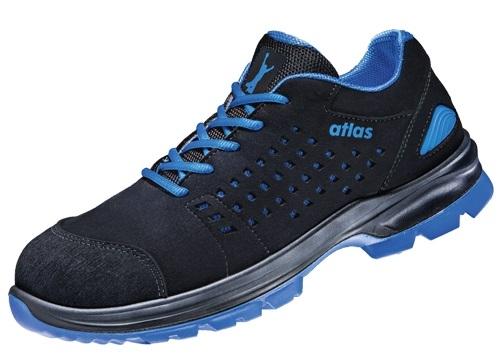 ATLAS-S1-Sicherheits-Arbeits-Berufs-Schuhe, Halbschuhe, SL 40 blue, Weite 14, schwarz/blau