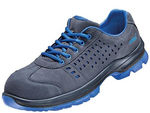 ATLAS-S1-Sicherheits-Arbeits-Berufs-Schuhe, Halbschuhe, SL 42 blue, ESD, Weite 12,  schwarz/blau