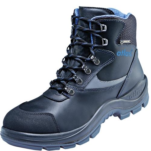 ATLAS-S3 CI-Sicherheits-Arbeits-Berufs-Schuhe, Hochschuhe, GTX 535 Gore-Tex, schwarz/blau